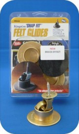 40mm Brass Felt Glide - SET OF 4