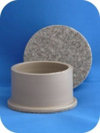 63mm Ball Felt Glide - Beige - SET OF 4